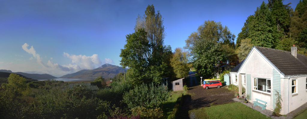 Panorama of Varis and across to Skye